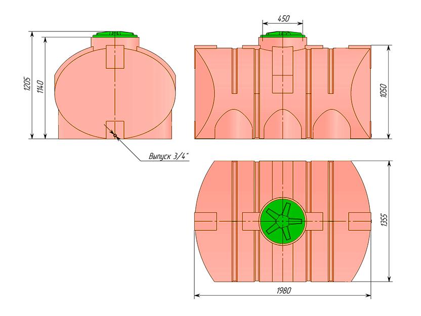 Емкость ТЦГП-2000 для КАС