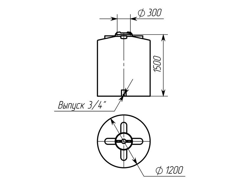 Емкость ТЦВП-1500