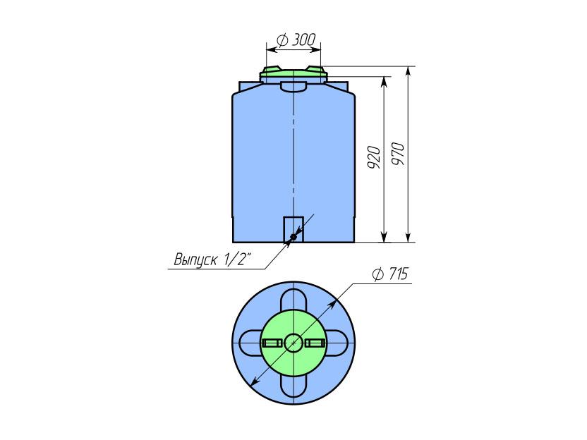 Емкость ТЦВП-300