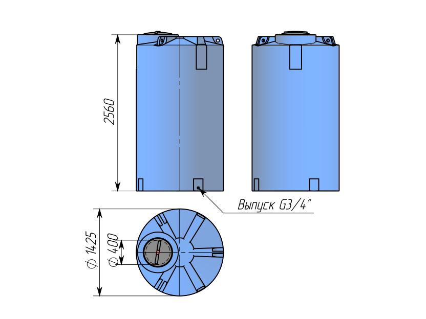 Емкость ТЦВП-4000
