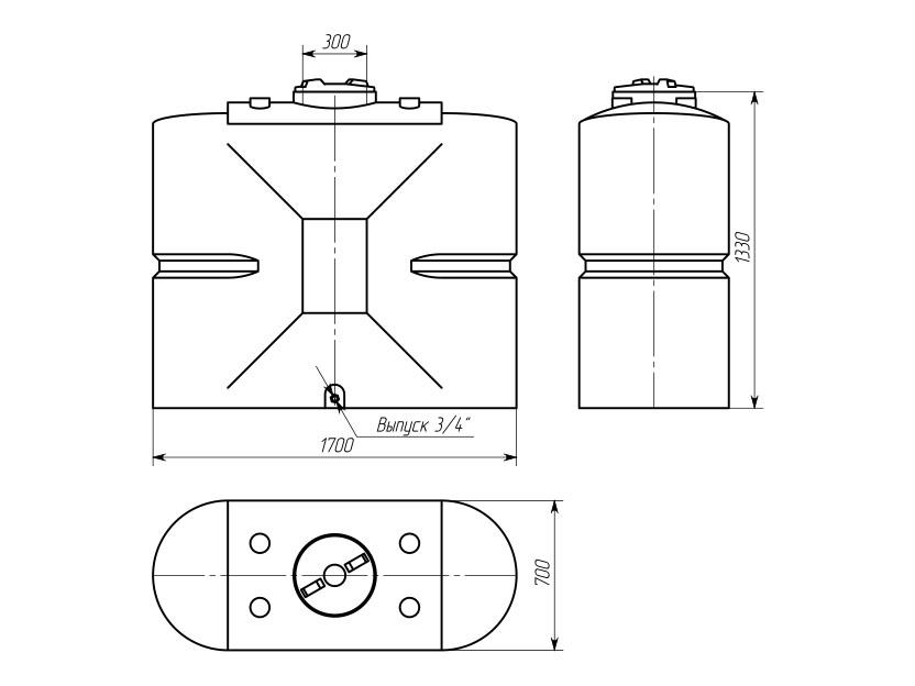Емкость ТПВУ-1000