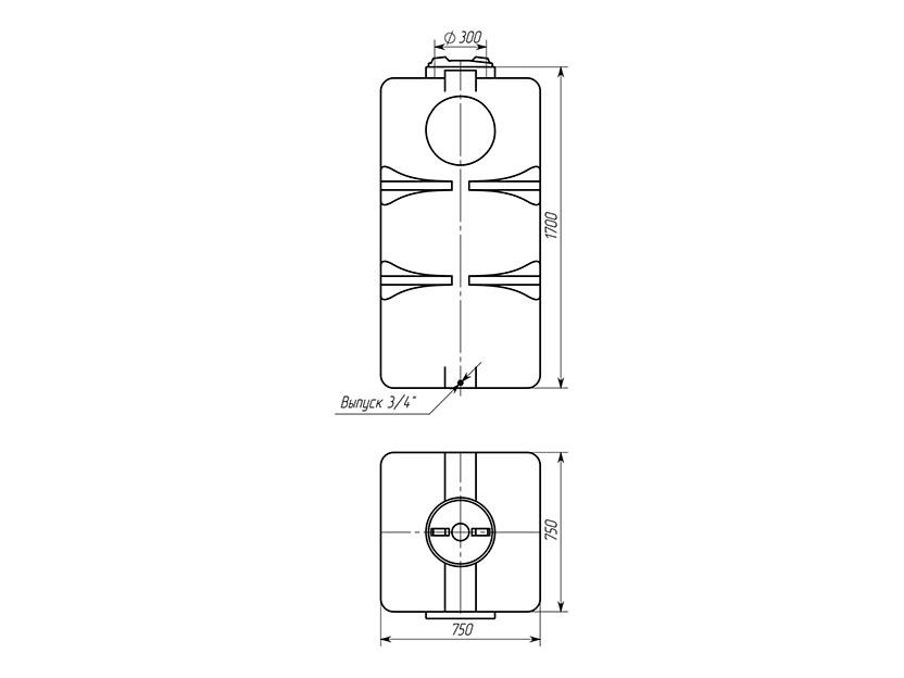 Емкость ТВП-800