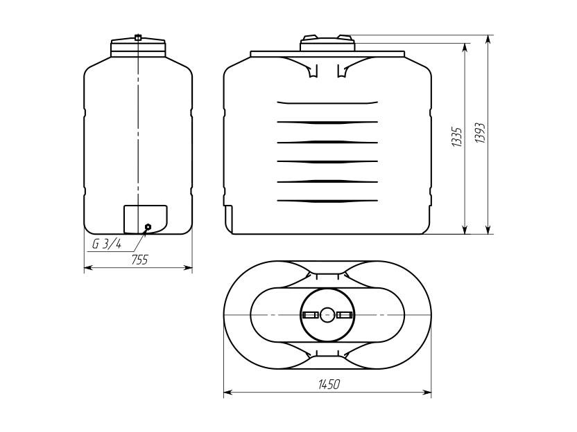 Емкость ТВС-1000