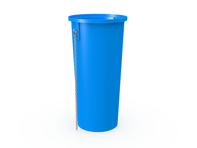 Секция мусоросброса прямая усиленная МСС-1200У